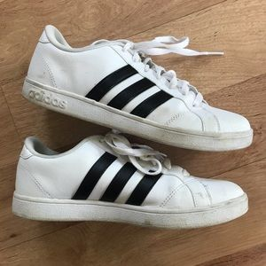 Adidas Superstar White and Black Sneakers Size 7.5
